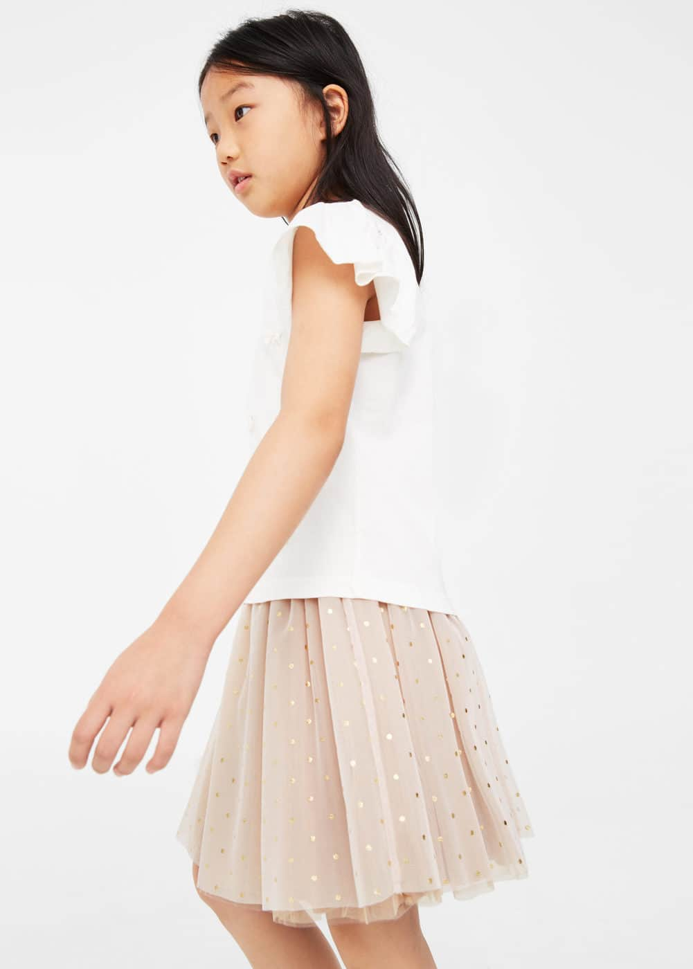 Polka-dot tulle skirt | MANGO KIDS