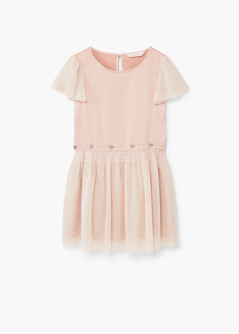 Bead tulle dress | MANGO KIDS