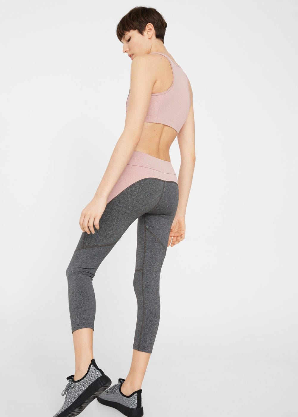 Mixed leggings | MANGO