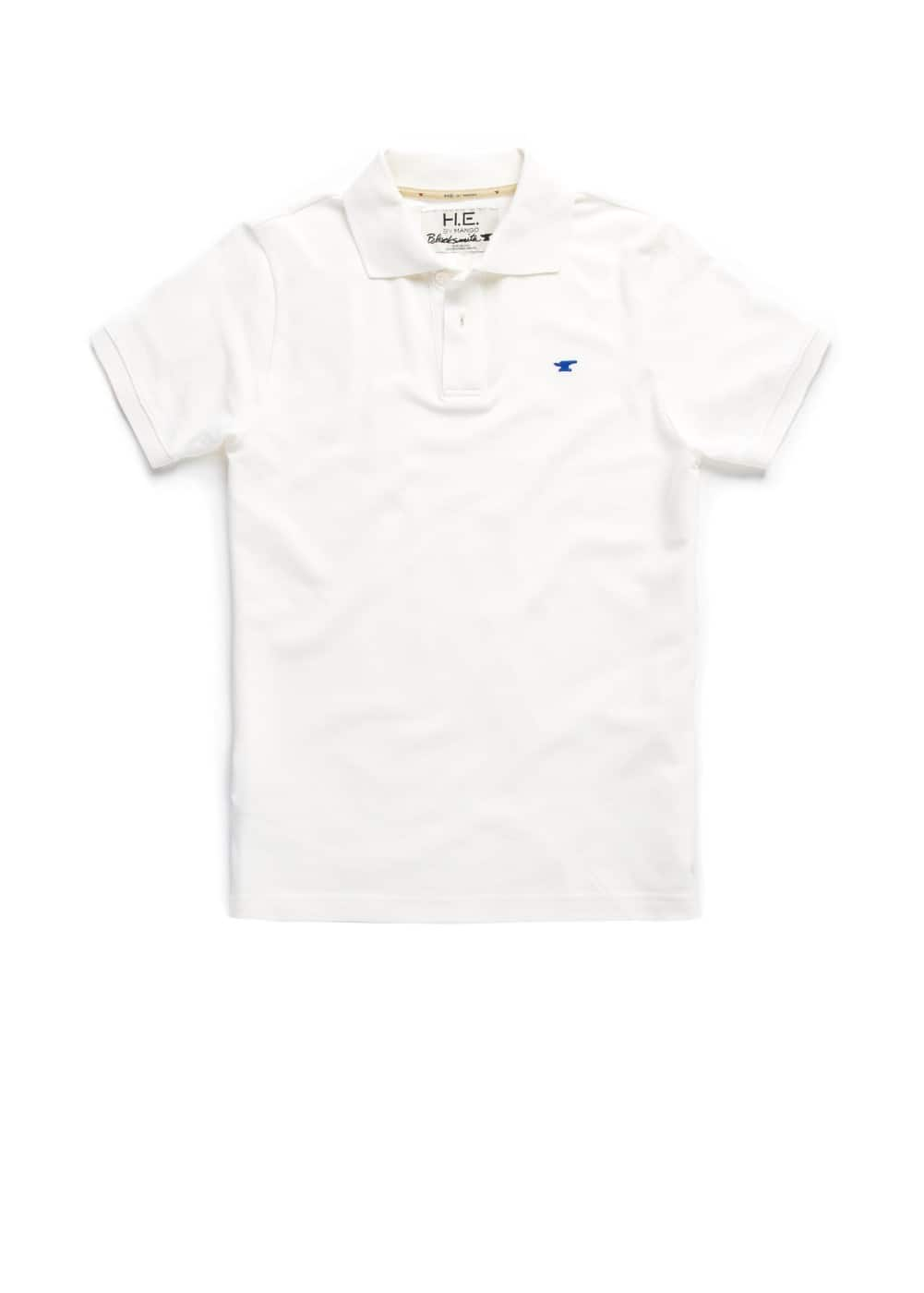 Cotton piqué polo shirt | MANGO MAN