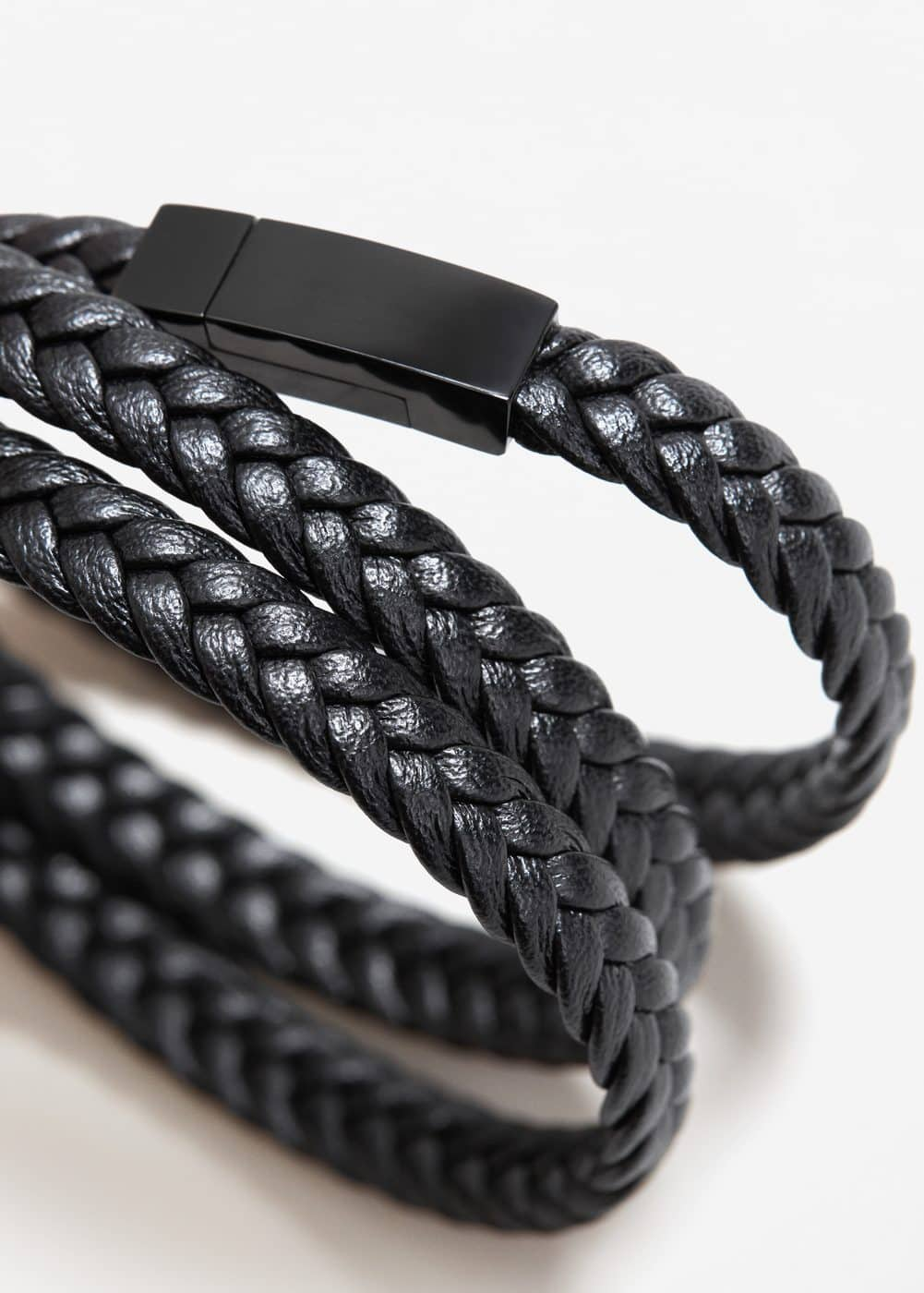 Triple braided bracelet | MANGO MAN