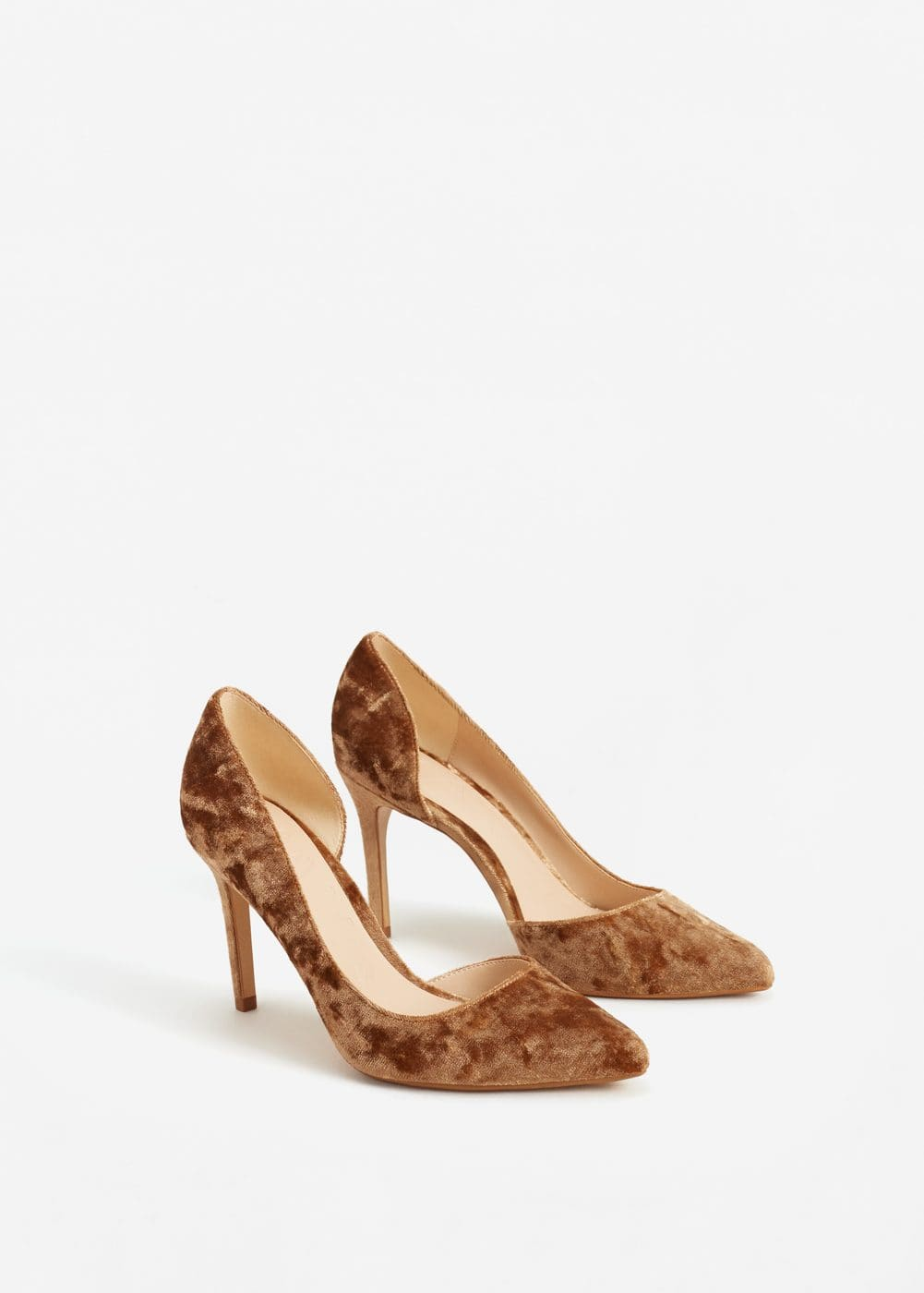 Stiletto velvet shoes | MANGO