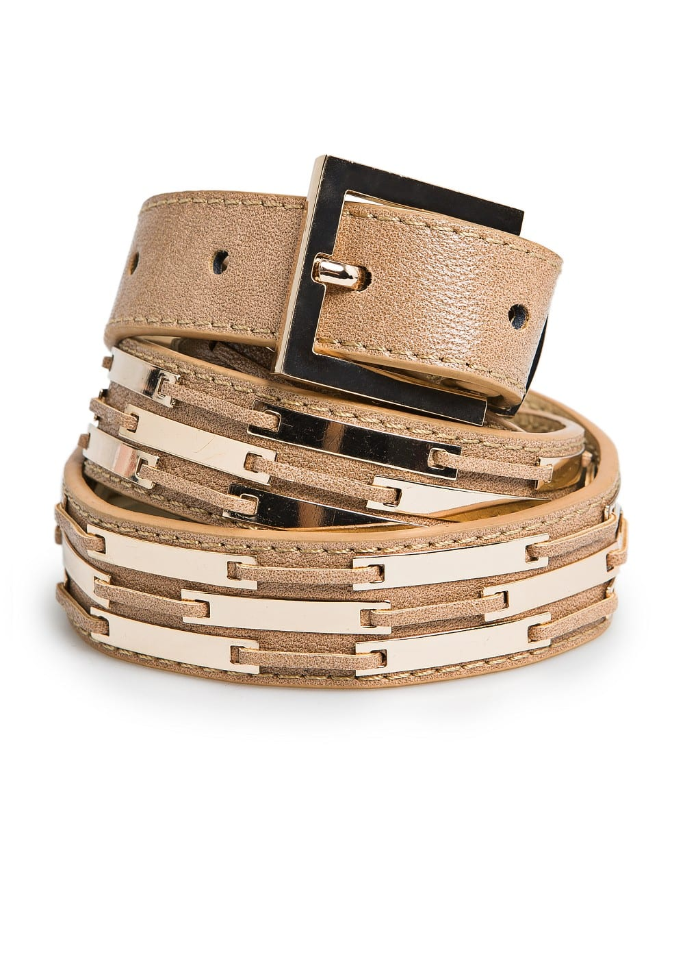 Metal plates belt | MANGO