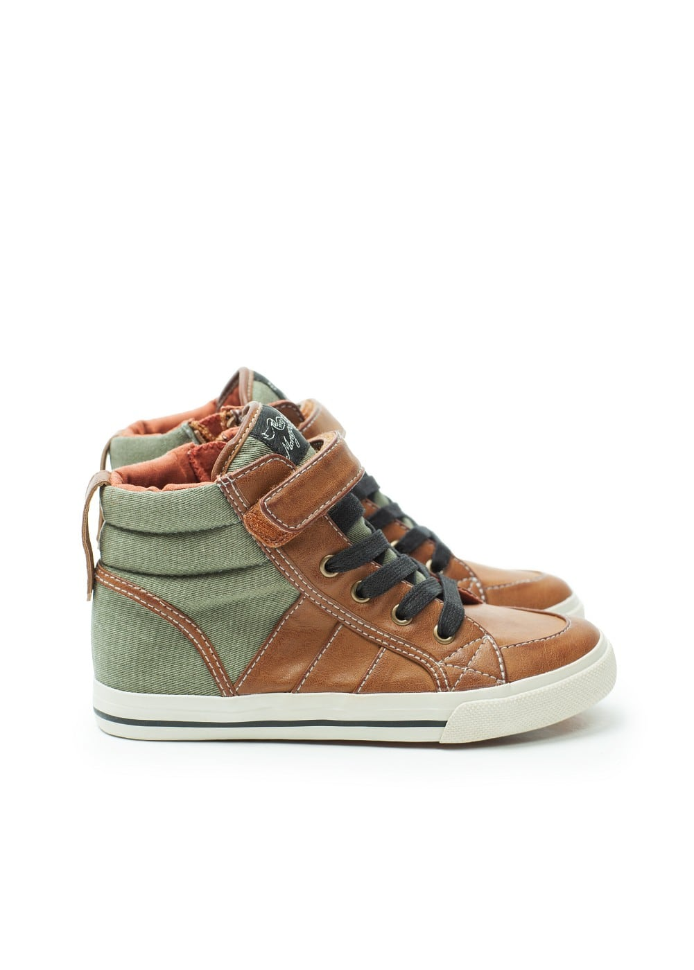 Zipped bicolor sneakers | MANGO