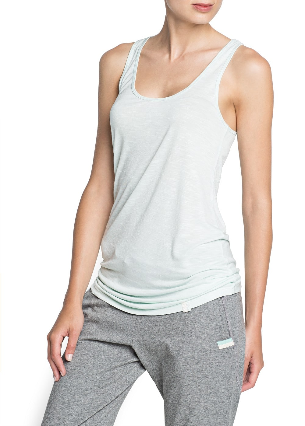 Yoga - soft sport loose-fit vest | MANGO