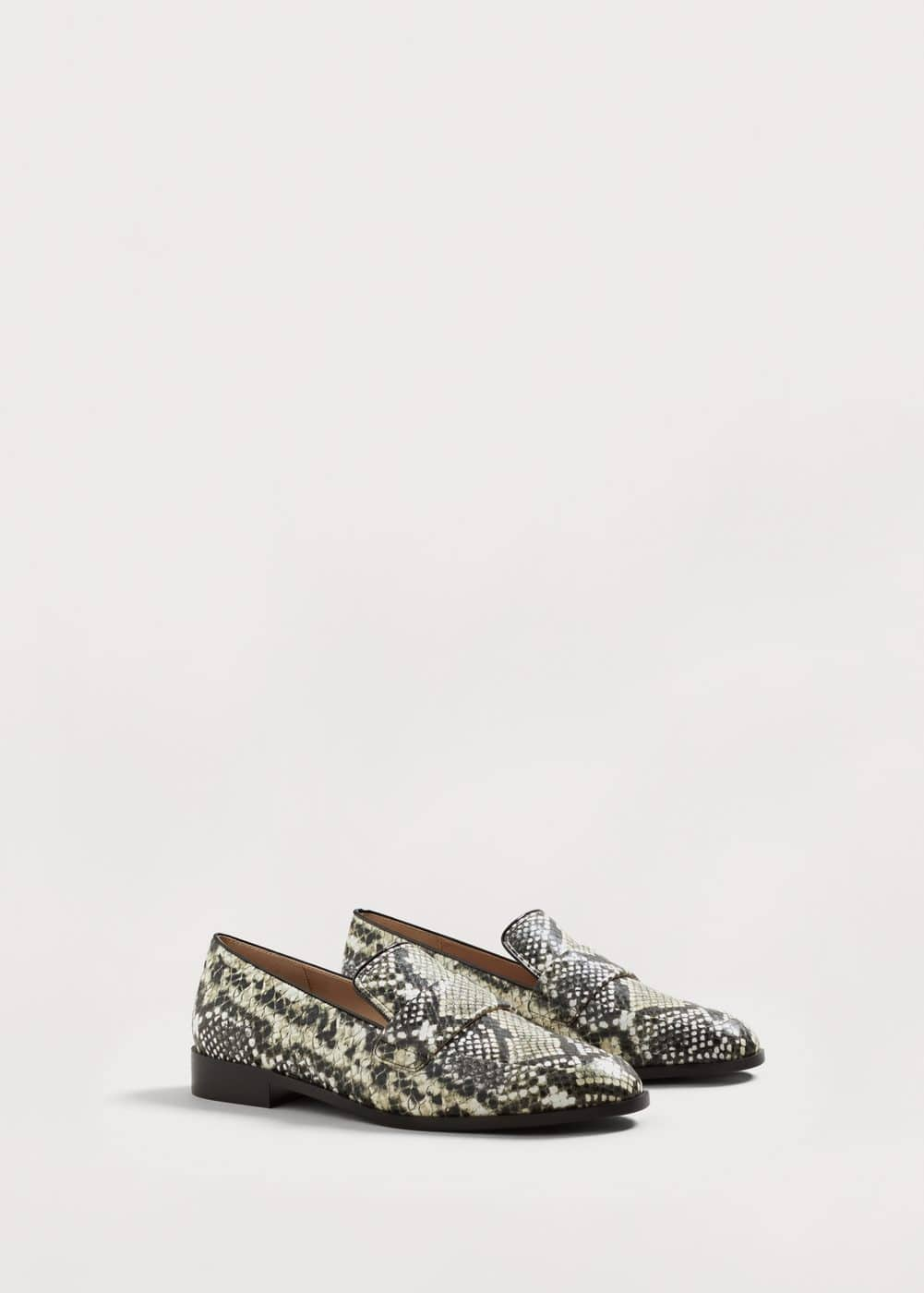 Snake design loafers | MANGO