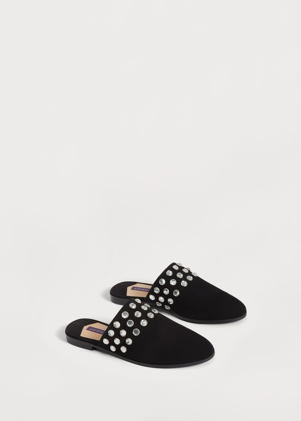 Faceted crystal shoes | MANGO