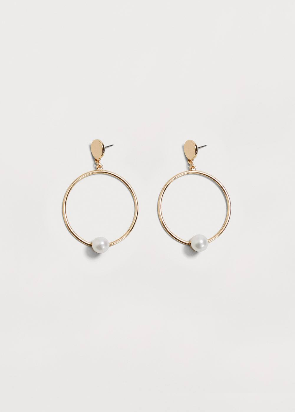 Hoop pendant earrings | MANGO