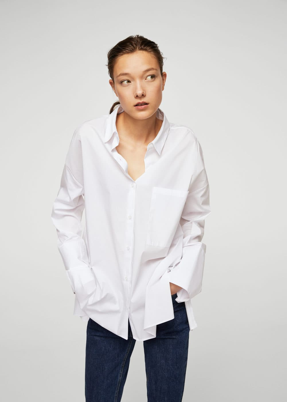 Oversize cotton shirt | MANGO