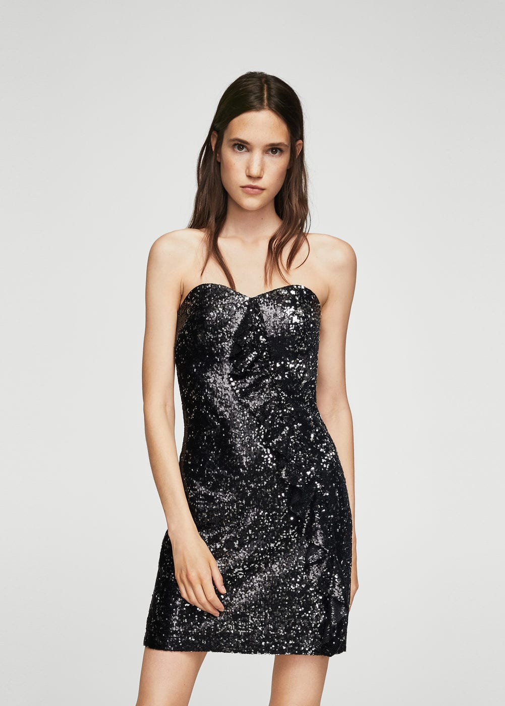 Ruffle sequined dress | MANGO