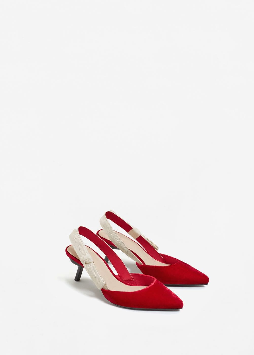 Velvet slingback shoes | MANGO