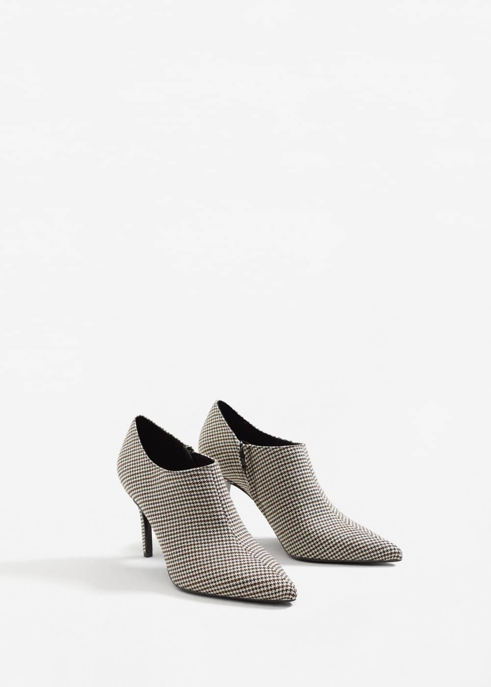 Houndstooth ankle boots | MANGO