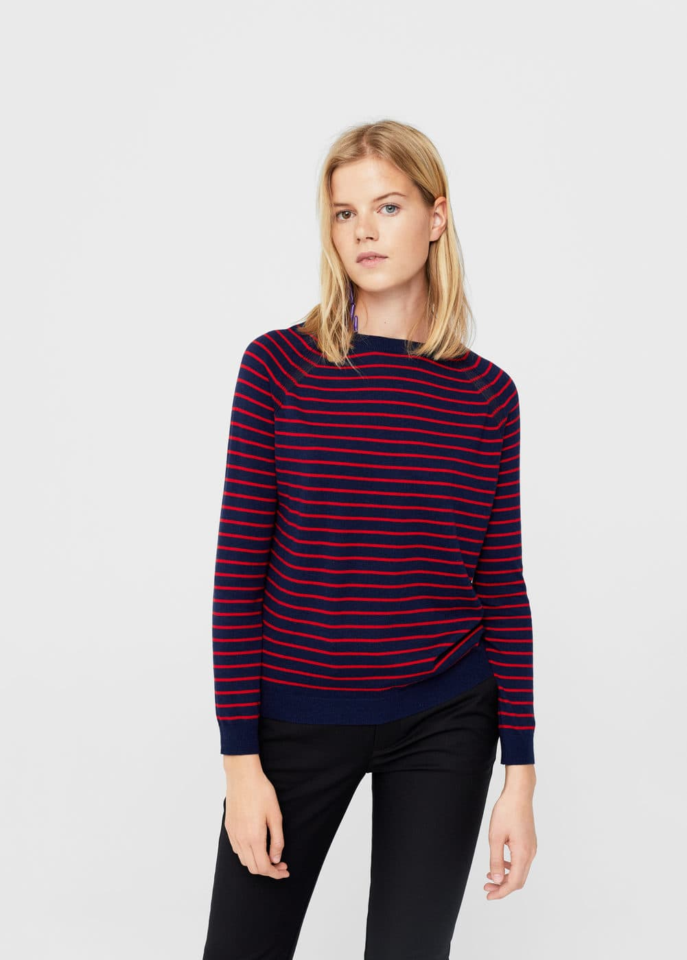 Pull-over coton à rayures | MANGO