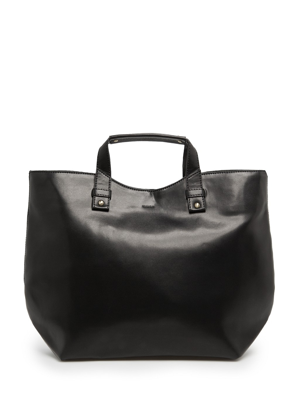 Faux leather shopper bag | MANGO