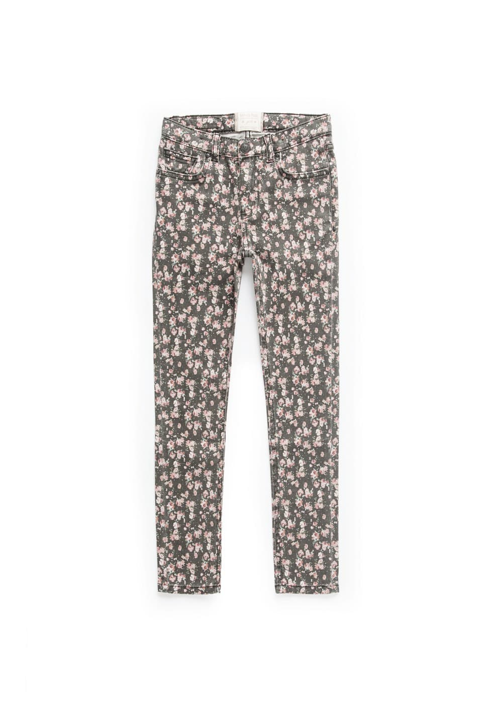 Slim-fit liberty print jeans | MANGO KIDS