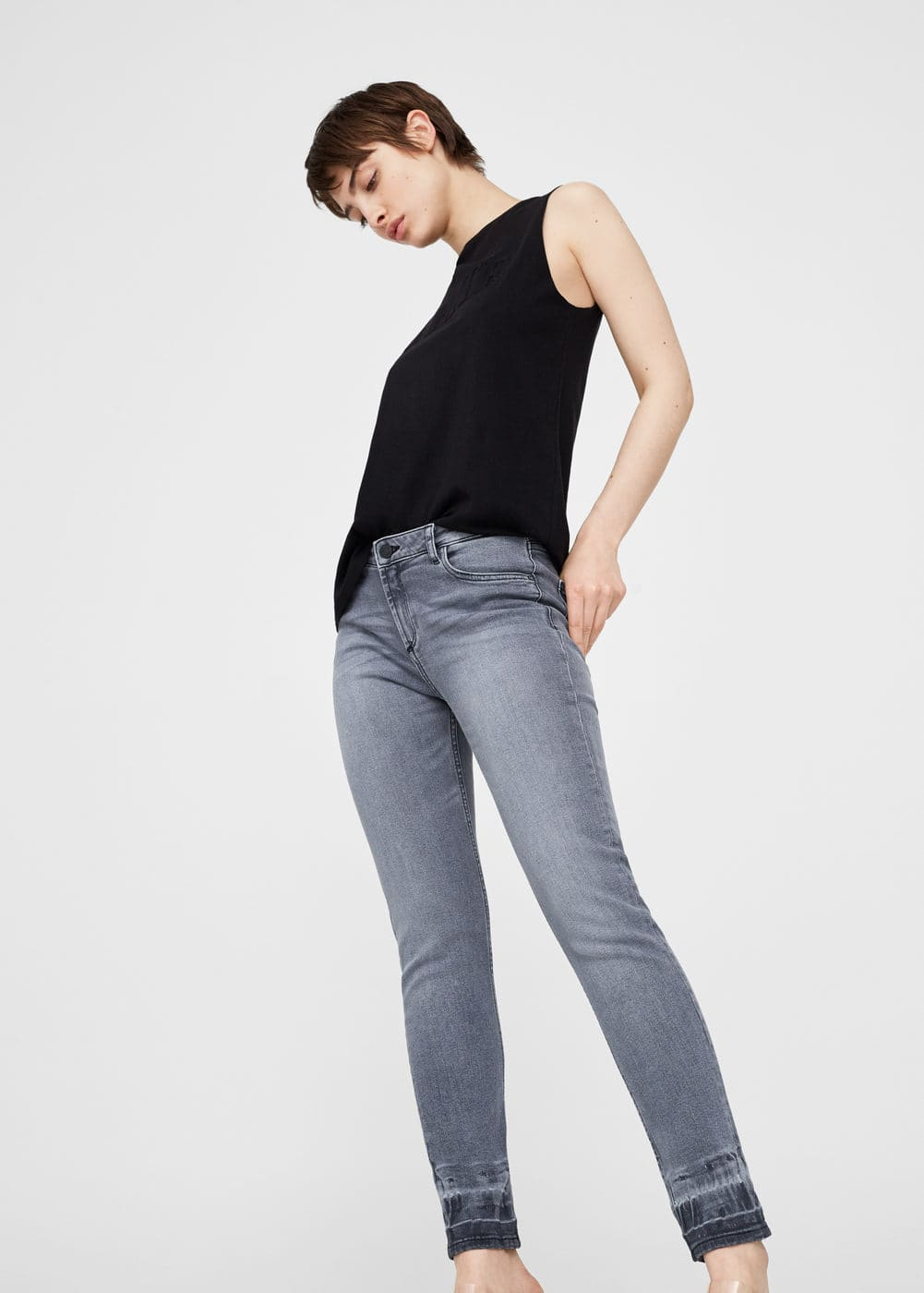 Faded slim jeans | MANGO