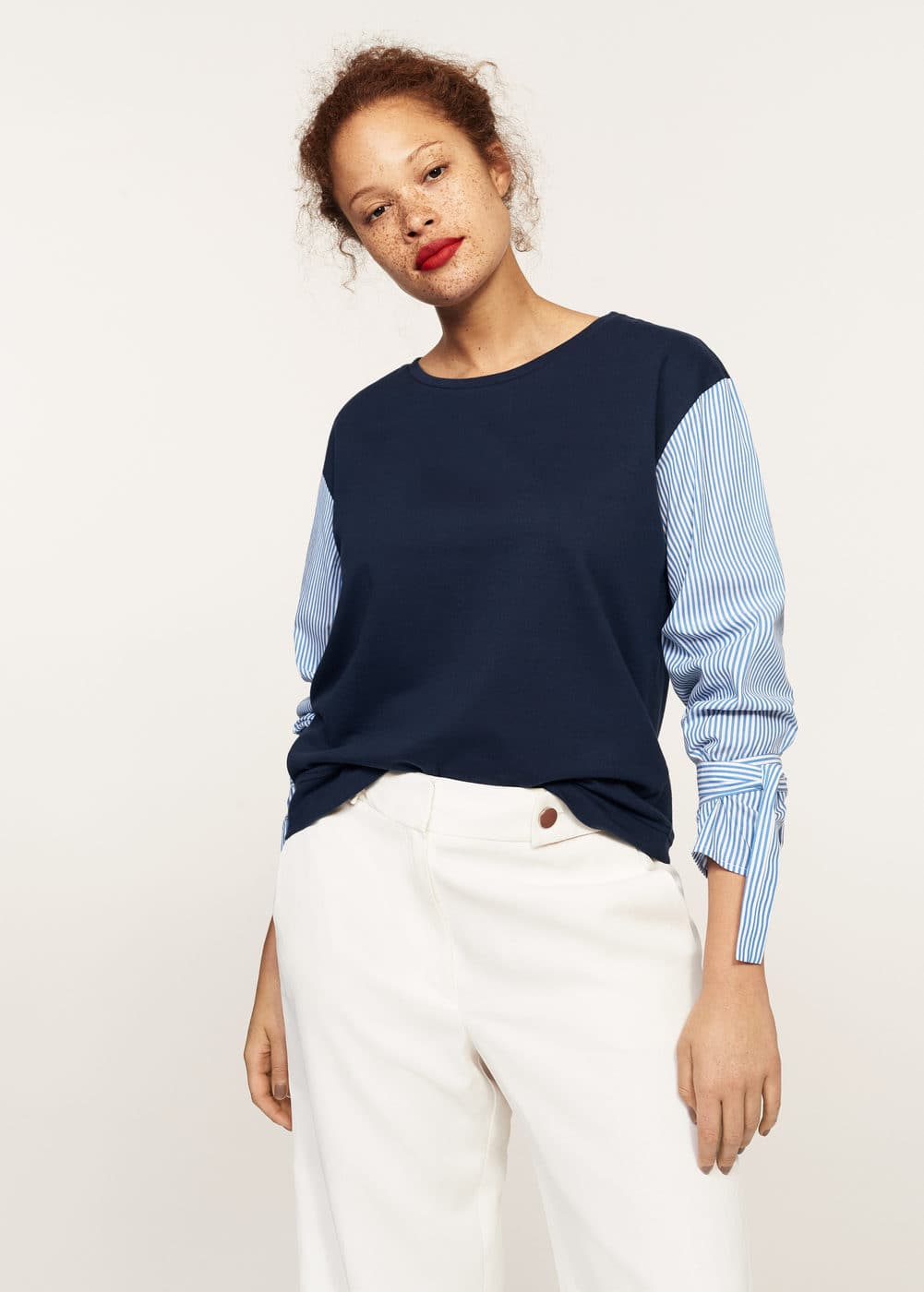 Mixed cotton sweatshirt | MANGO