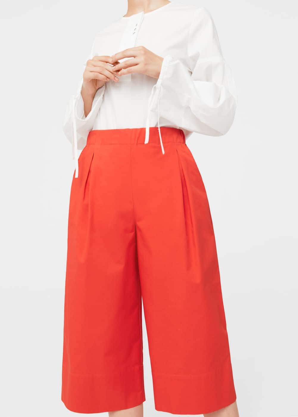 Pleated culottes trousers | MANGO