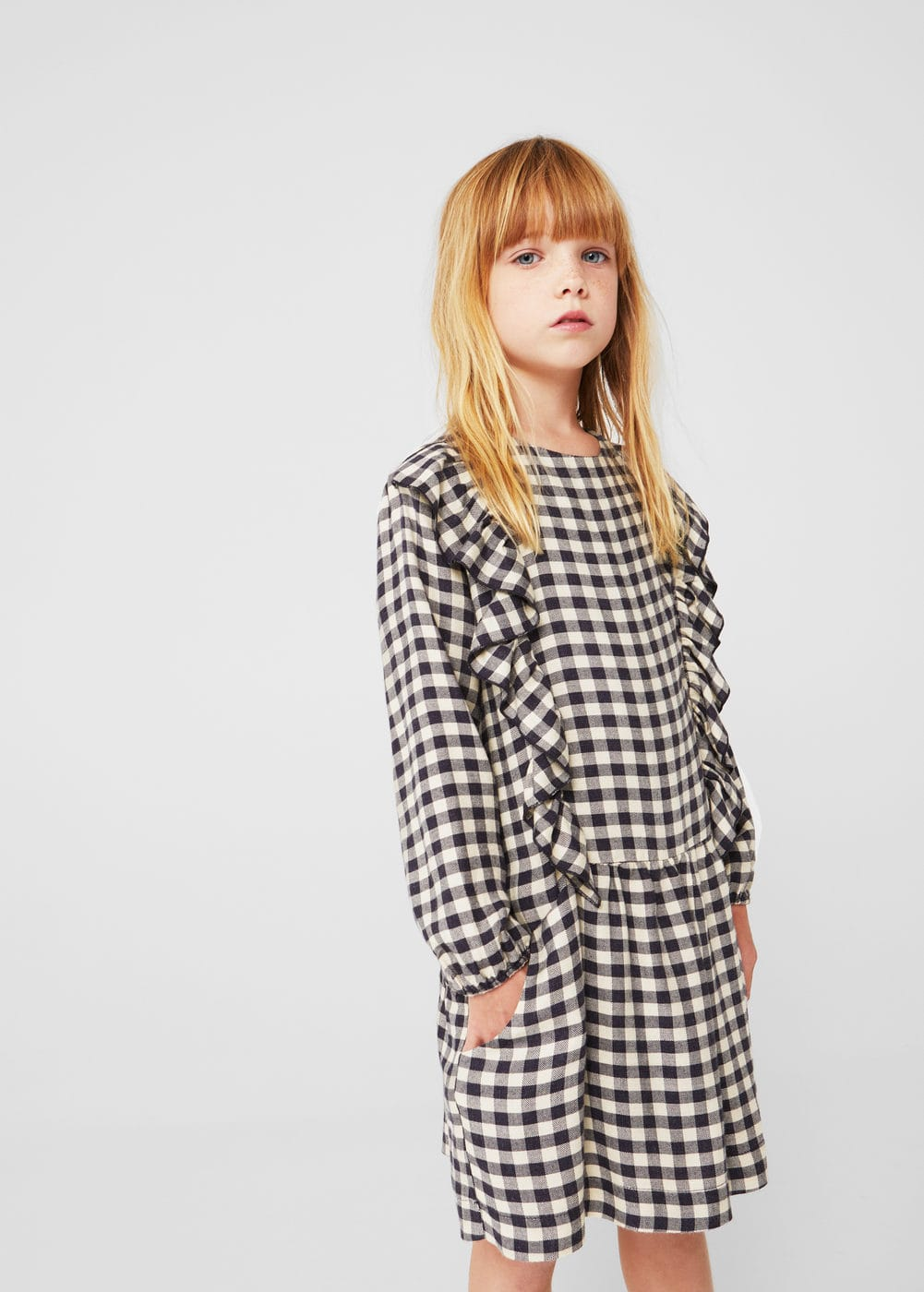 Two-pocket check dress | MANGO