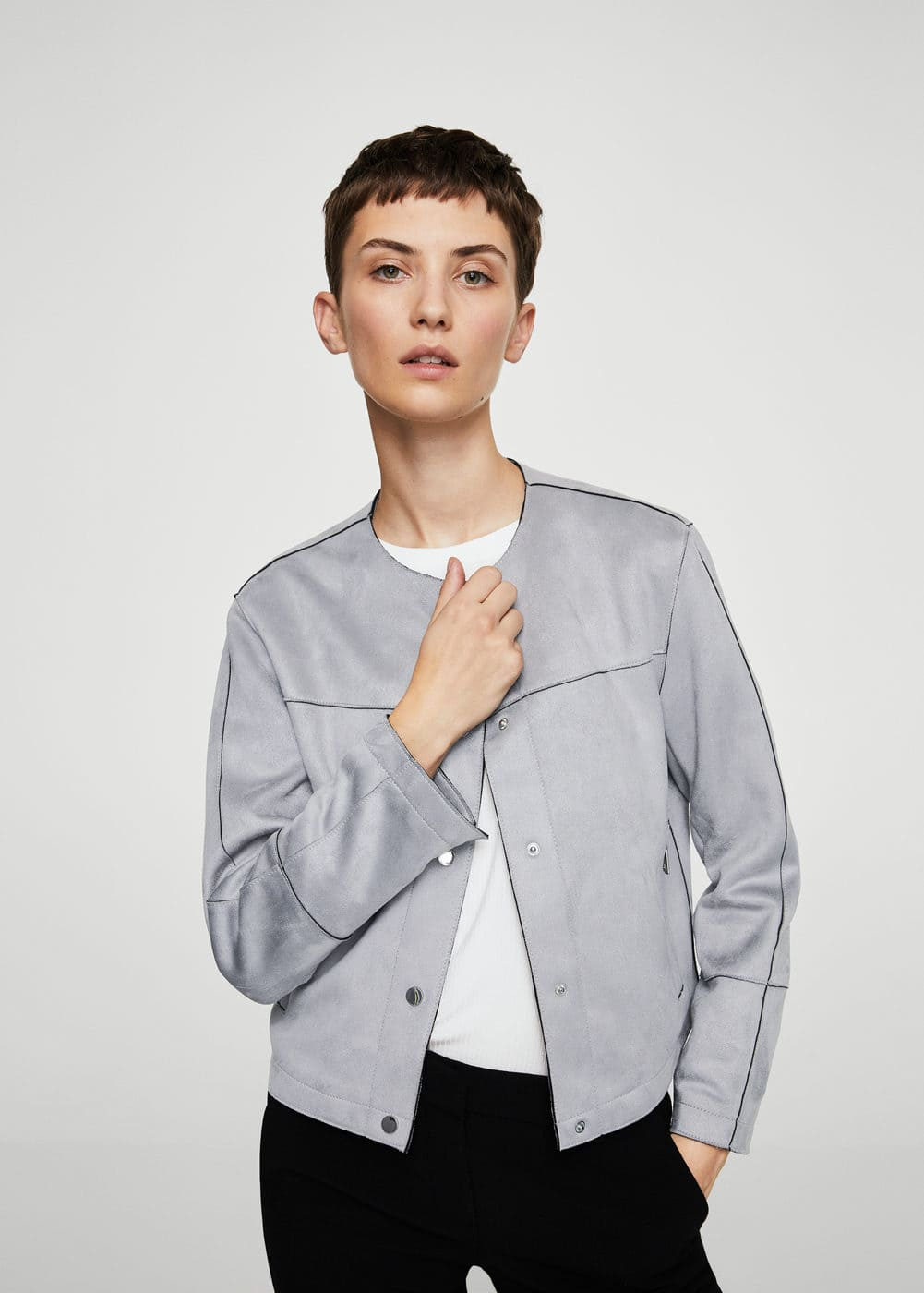 Suede effect jacket | MANGO