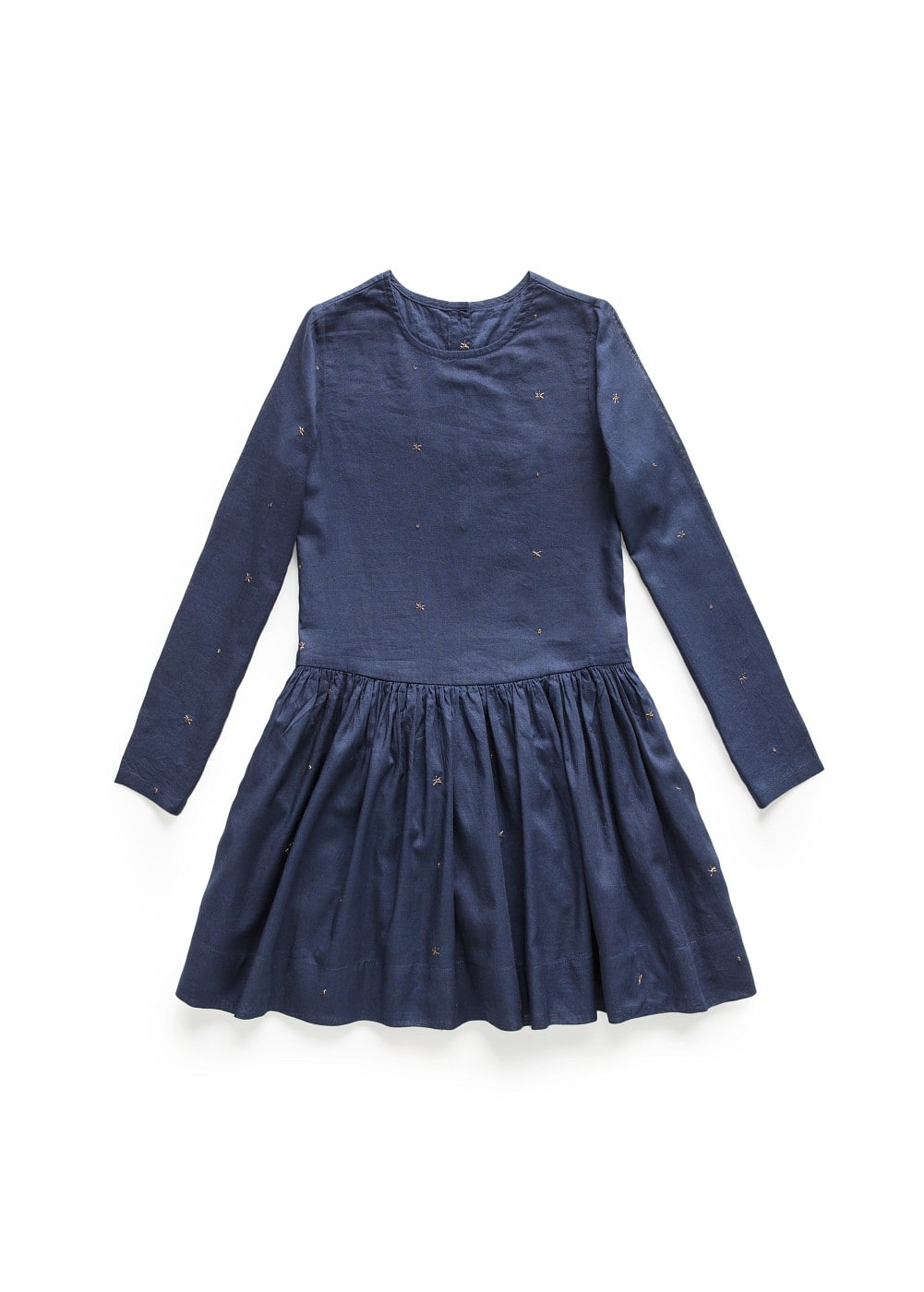 Metallic star cotton dress | MANGO KIDS