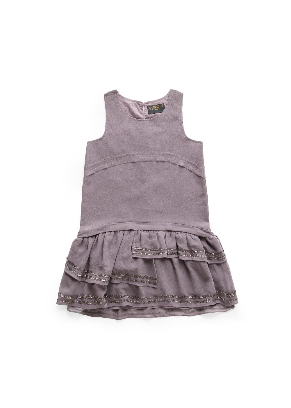 Sequined details ruffled dress | MANGO KIDS