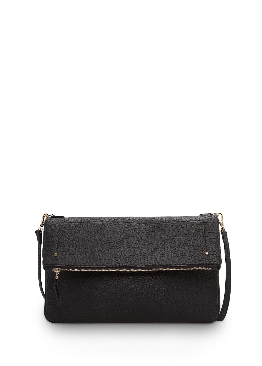 Tumbled faux leather bag | MANGO