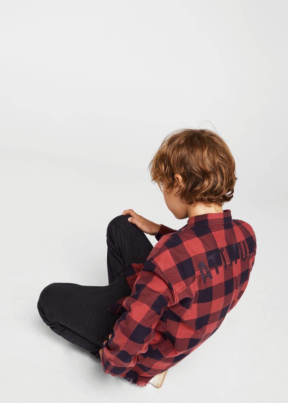 Checked message shirt | MANGO