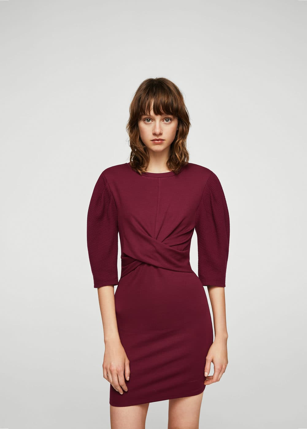 Draped detail dress | MANGO