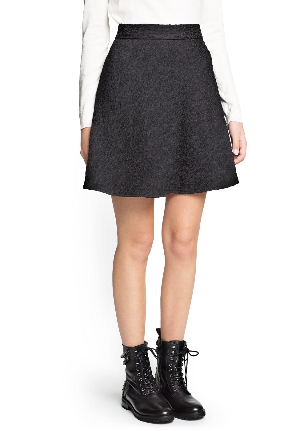 Textured skater skirt | MANGO