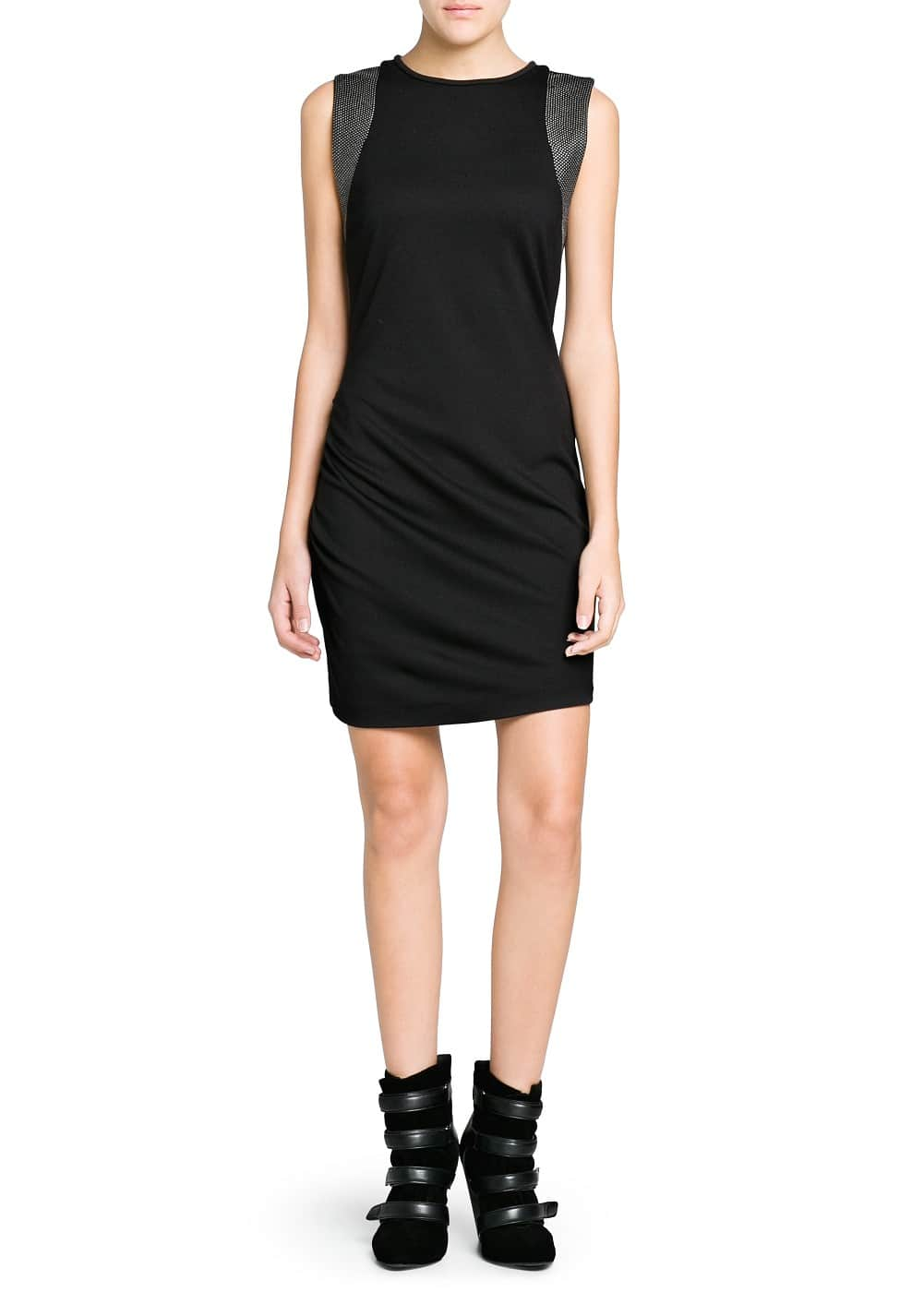 Studded fitted dress | MANGO