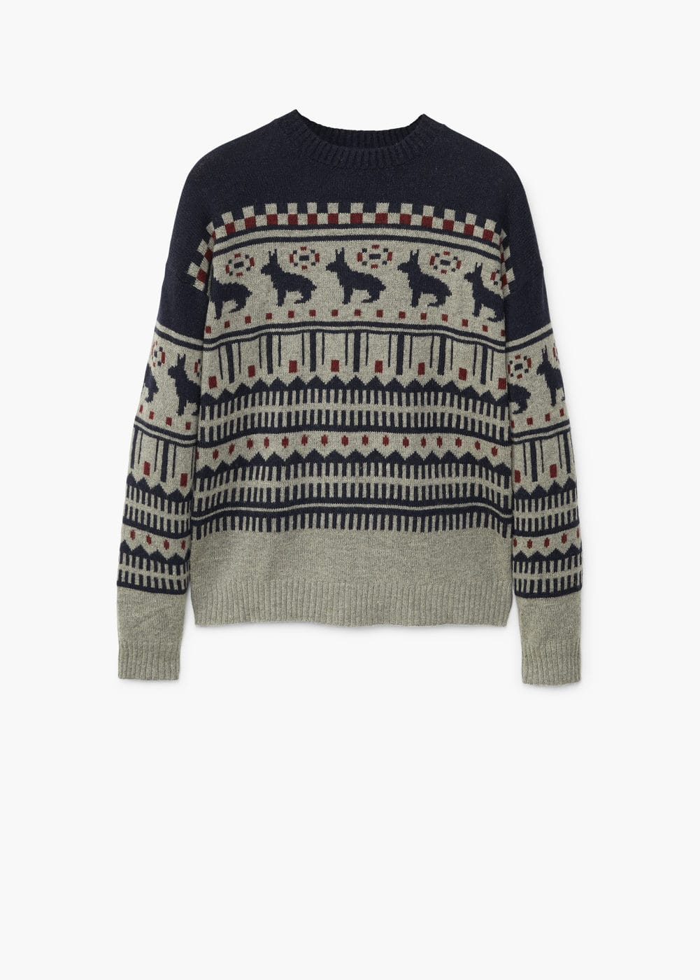 Fair isle wool sweater | MANGO