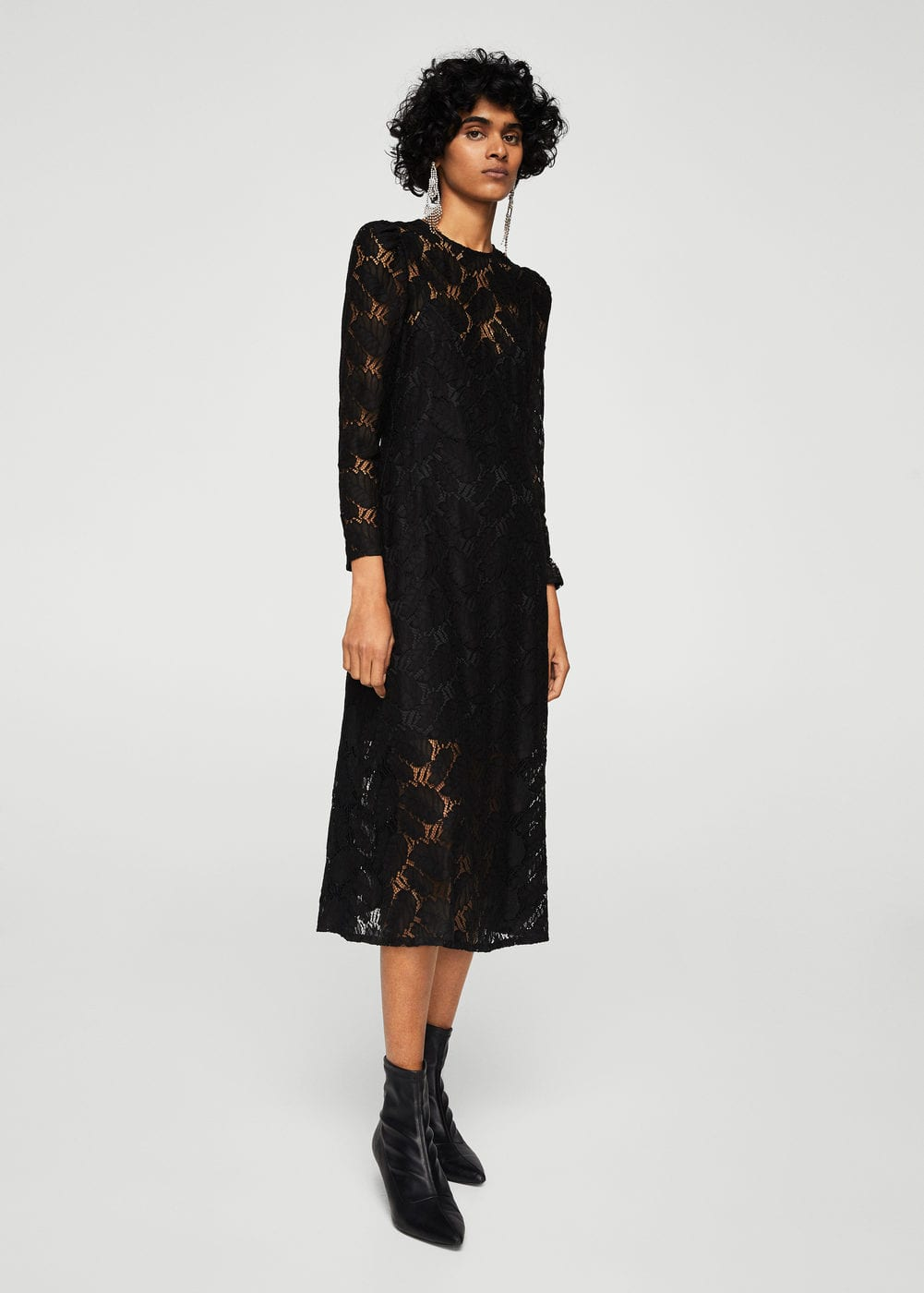 Floral lace dress | MANGO