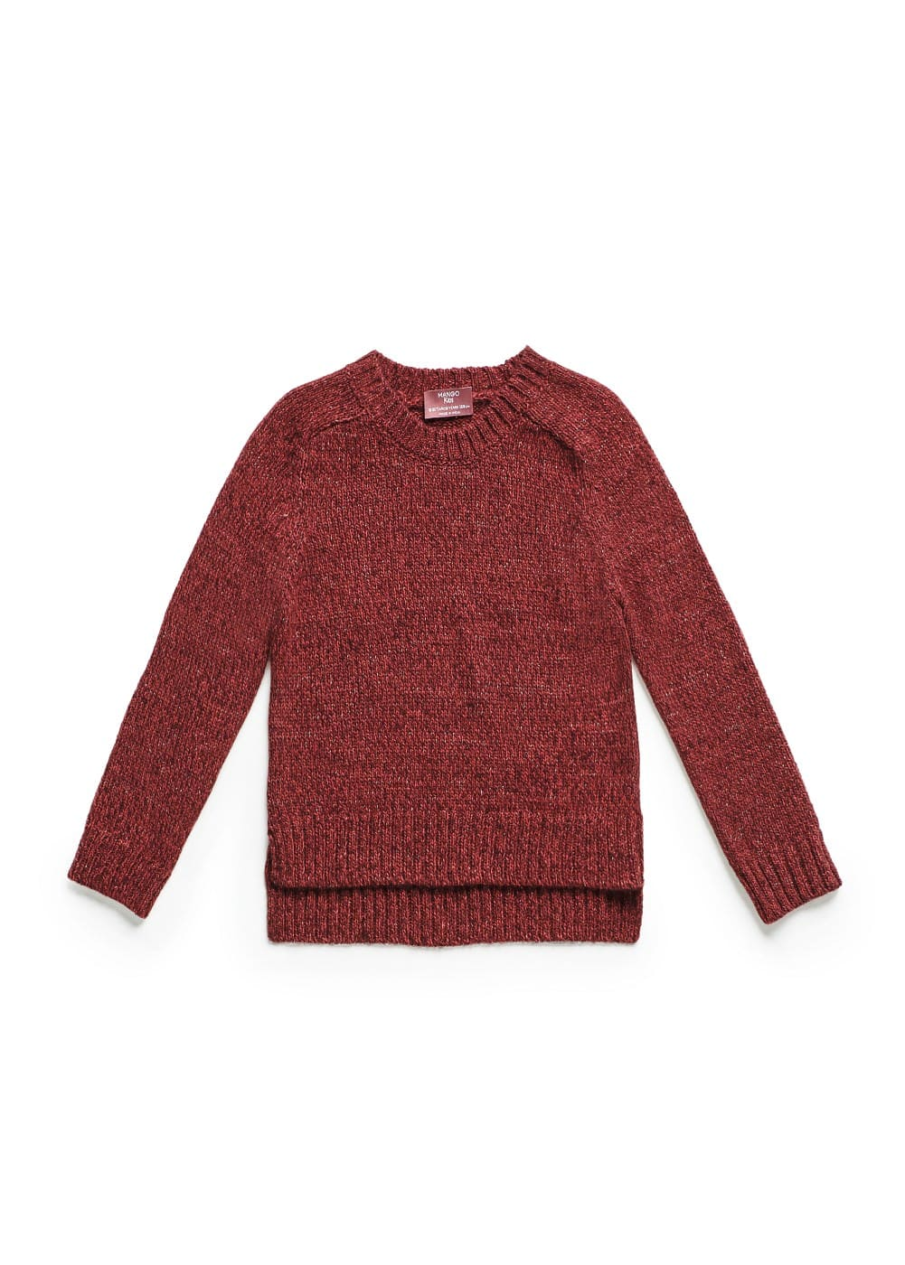 Metallic threads flecked sweater | MANGO KIDS