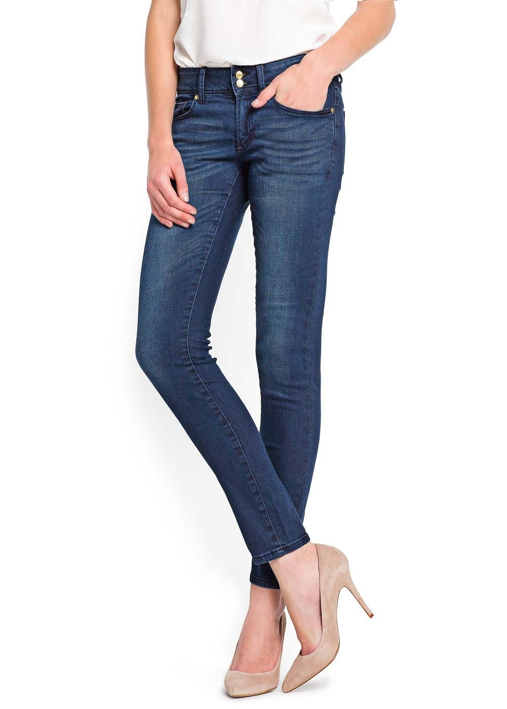 Slim-fit dark wash lizzy jeans | MANGO