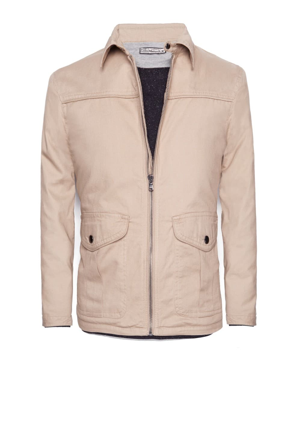 Canvas cotton jacket | MANGO