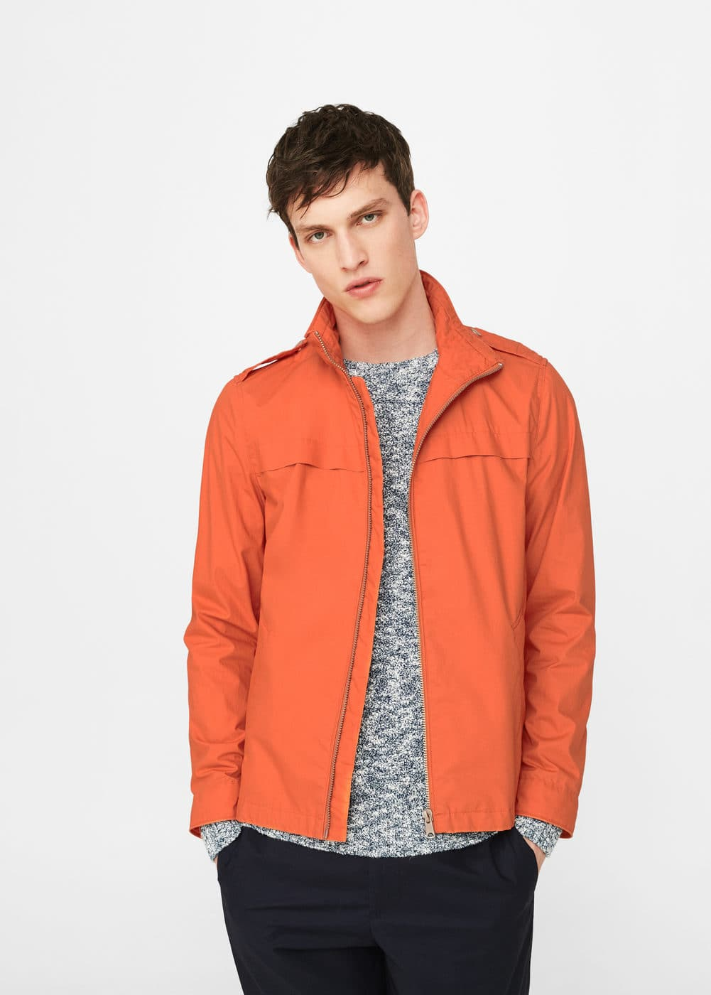 Cotton jacket | MANGO MAN