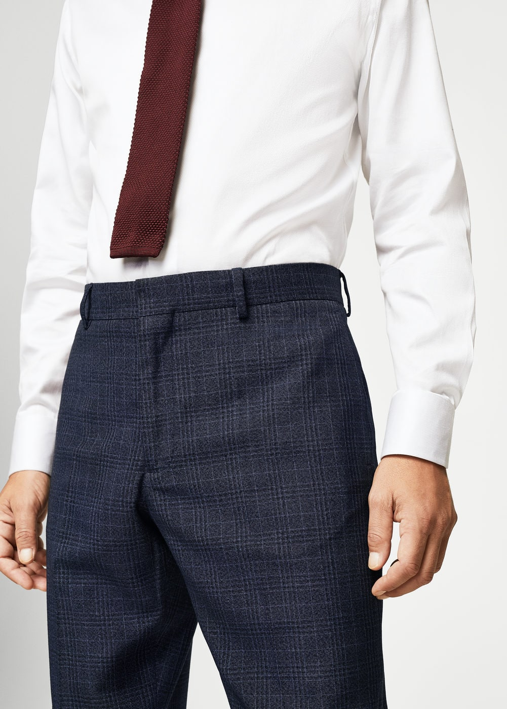 Regular-fit check suit trousers | MANGO