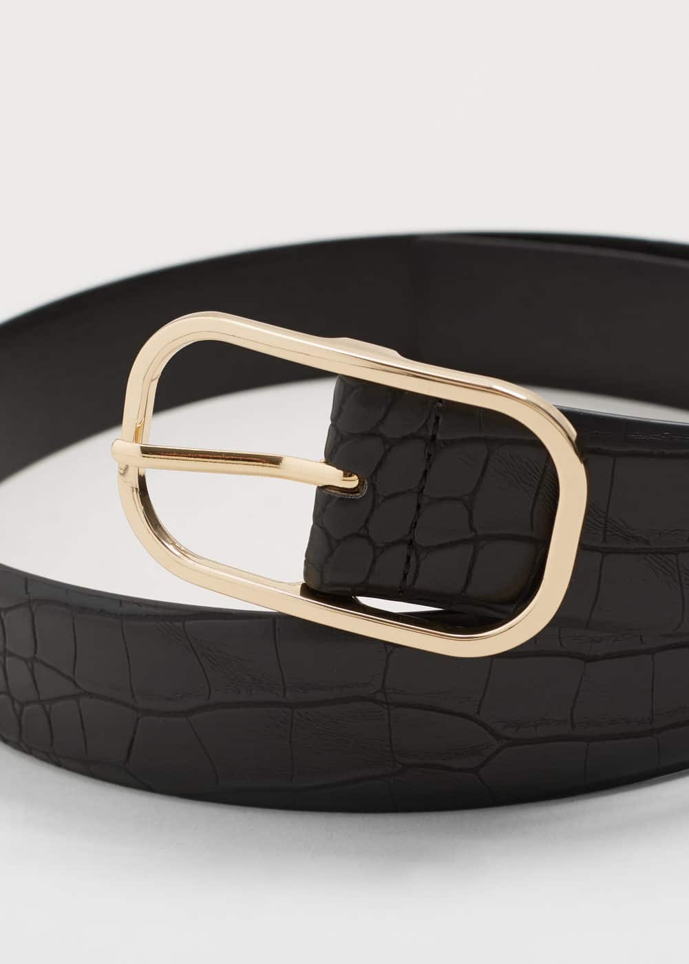 Crocodile effect belt | VIOLETA BY MANGO