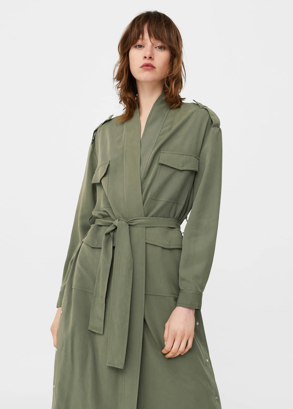 Side snaps trench | MANGO