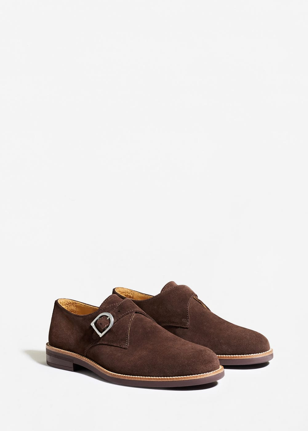 Suede monk-strap shoes | MANGO