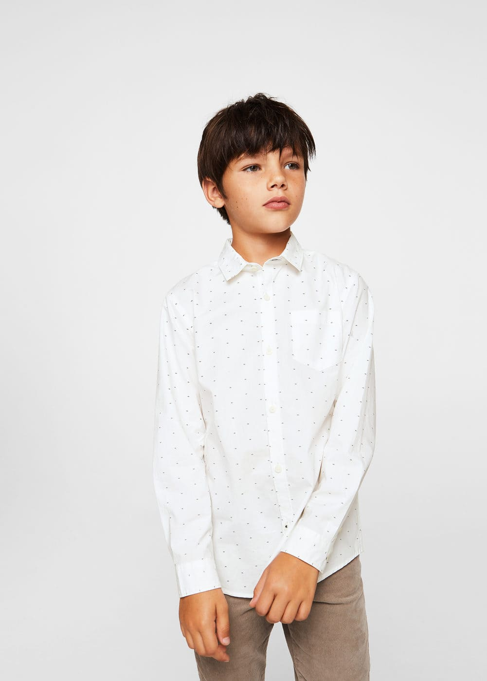 Chest-pocket cotton shirt | MANGO