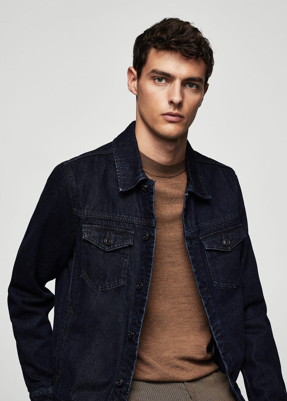 Dark wash denim jacket | MANGO