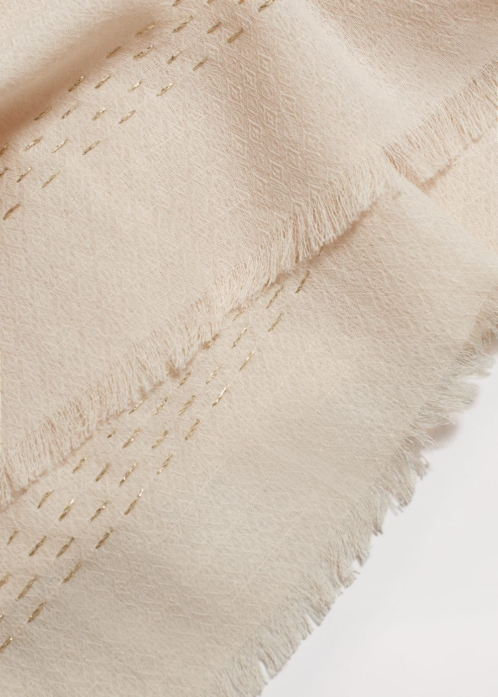 Textured cotton scarf | MANGO