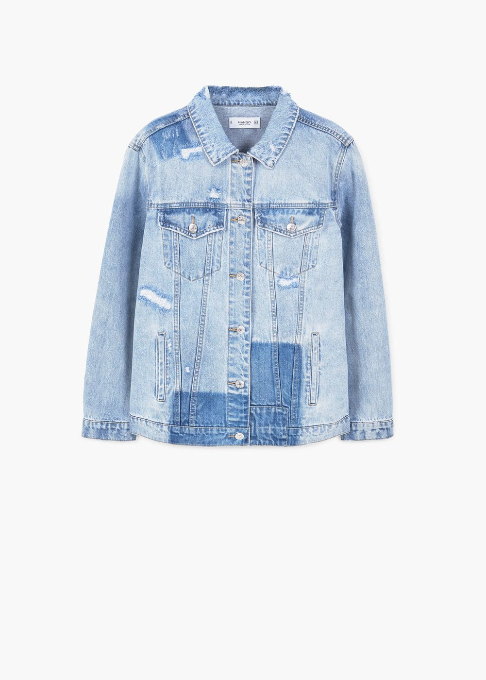 Rips oversize denim jacket | MANGO