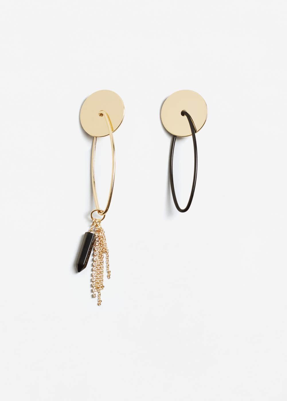 Mixed asymmetric earrings | MANGO