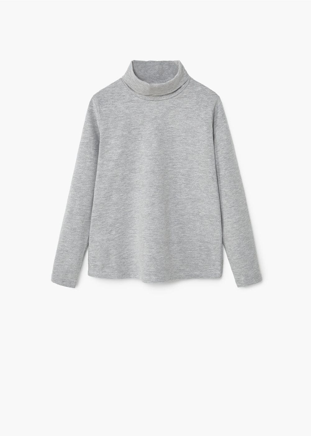 Turtleneck cotton t-shirt | MANGO KIDS