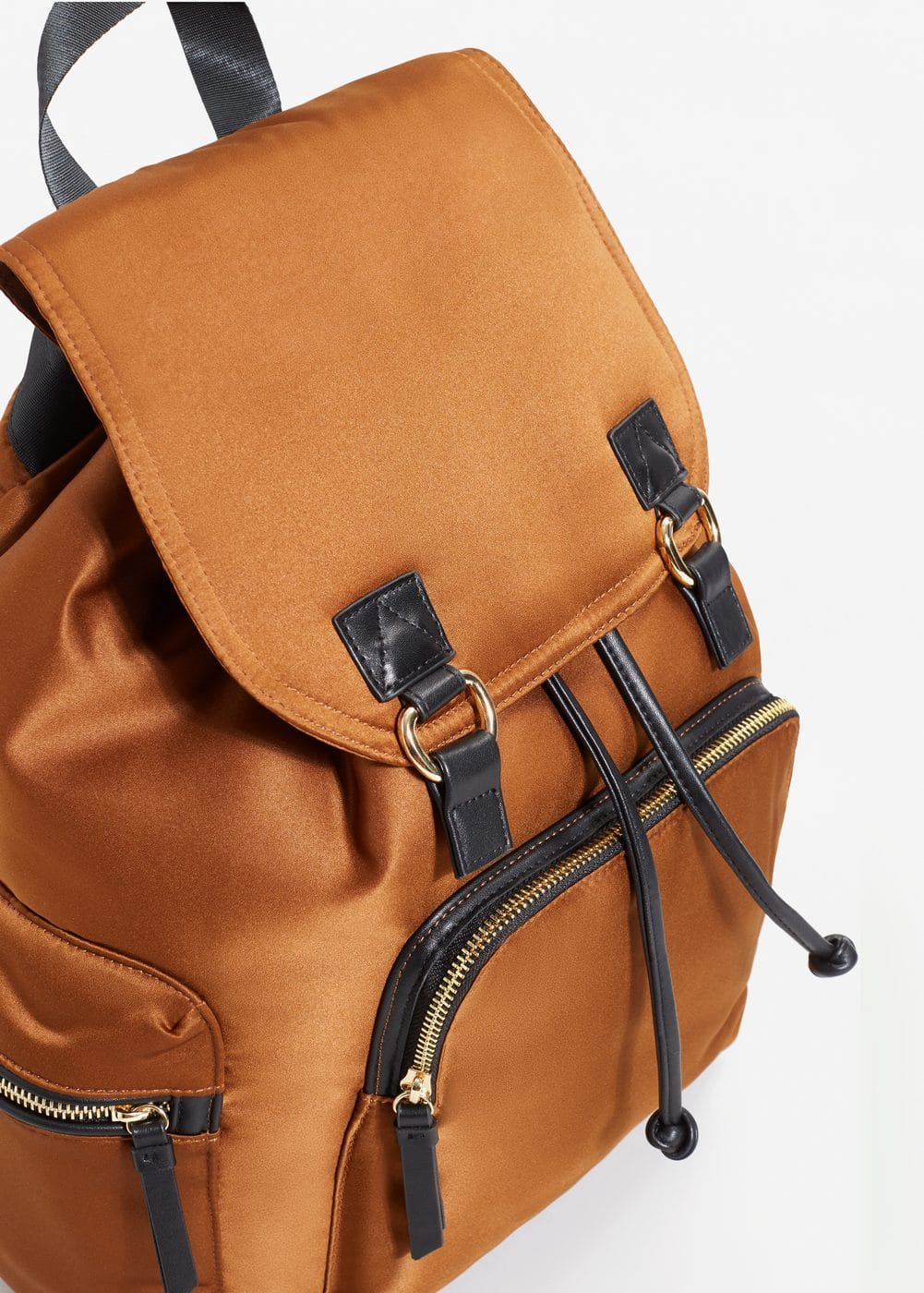 Satined backpack | MANGO