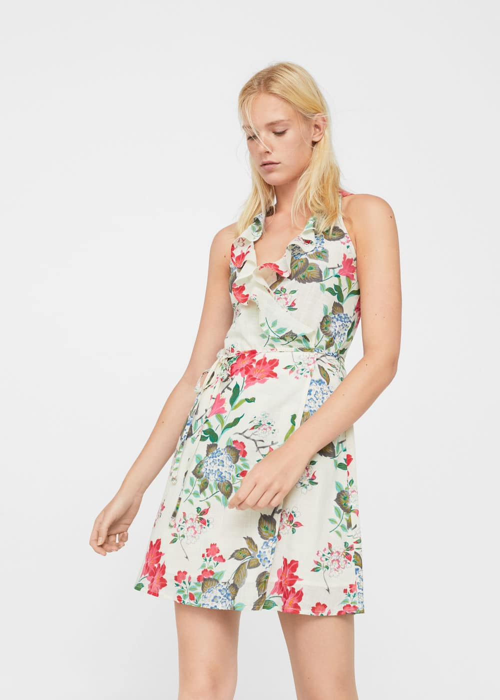 Floral wrap dress | MANGO