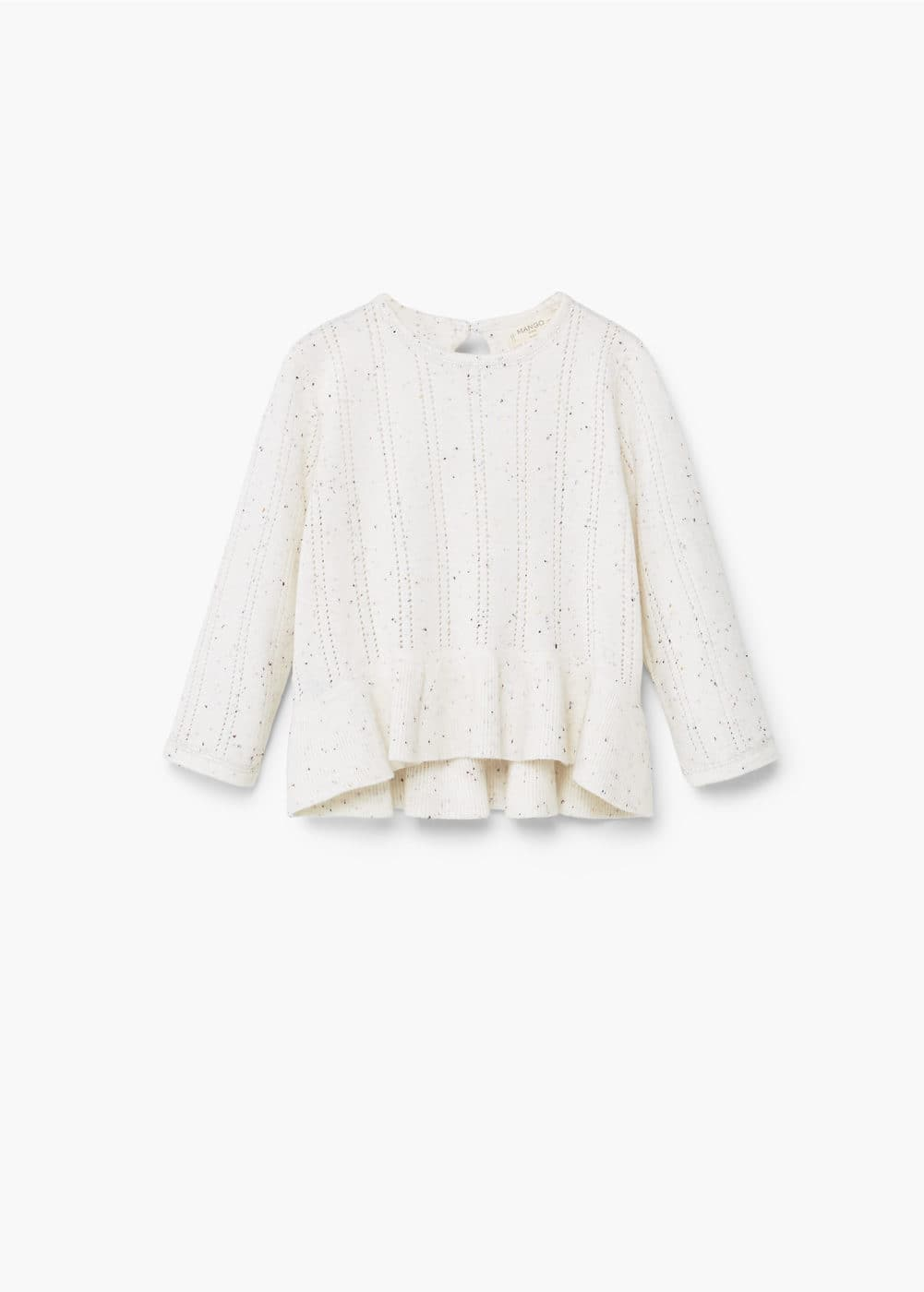 Ruffled detail sweater | MANGO KIDS